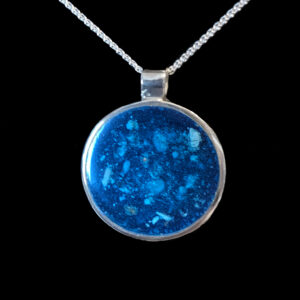 Sterling Silver and Resin Ashes Pendant