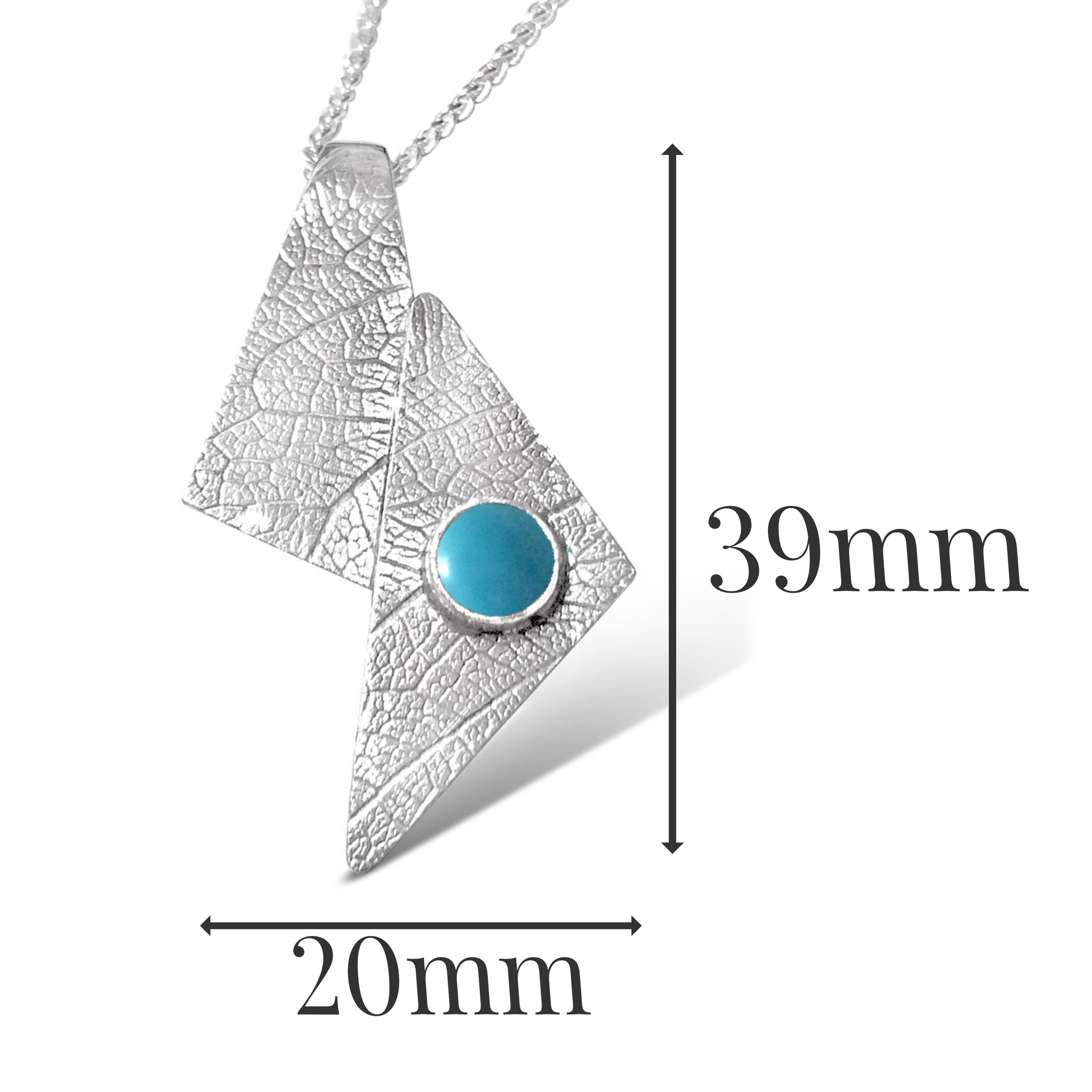 LP541 - Silver Turquoise Pendant Sizes