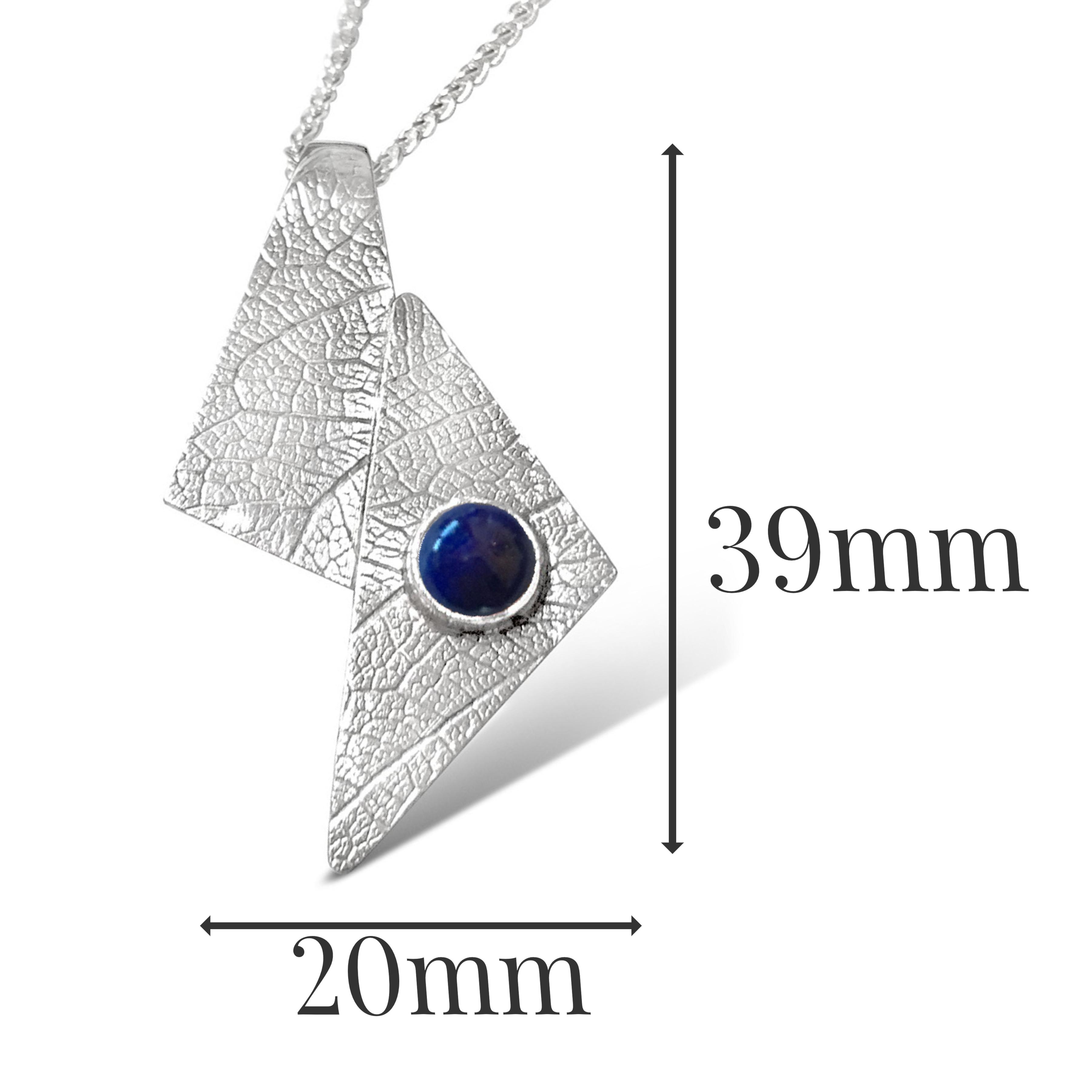 LP541 - Silver Lapis Lazuli Pendant Sizes